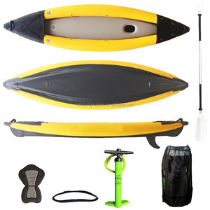 Tube removable fin inflatable kayak
