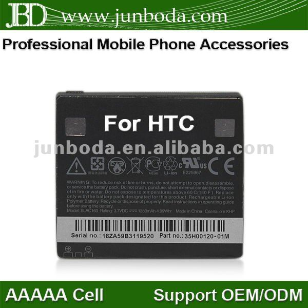 100% GENUINE For HTC BLAC160 li-ion battery HD DIMOND T8282 BLACKSTONE