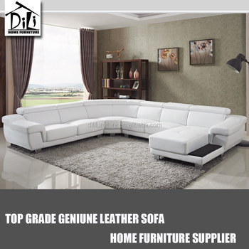 European Style Extra Long Leather Sofa Foshan