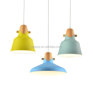 Simple Modern Creative Personality Solid Wood Aluminum Dining Hanging Lamp Living Room Office Tea Single Head Chandeliers