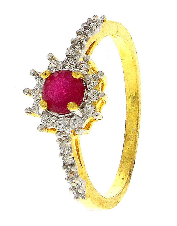 Anuradha Art Golden Finish Styled With Pink Colour Designer American Diamonds Classy Finger Ring For Women/Girls