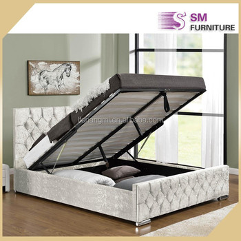 Ottoman Bed Hydraulic Lift Up Storage For Bedroom Furniture Room Set