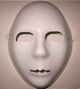 plastic paper blank solid white color DIY mask for kids