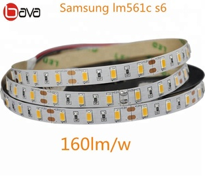 Full spectrum LED grow strip warm white 3000K 3500K led strip samsung  lm561c with uc and 660nm