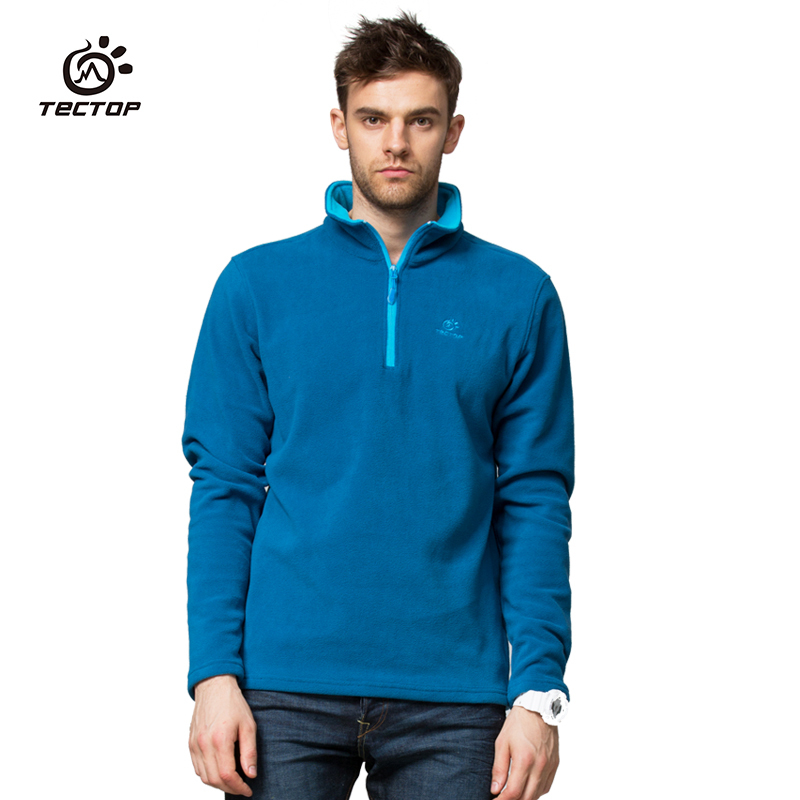 TECTOP NEW brand casual outdoor sport running sweater windproof thermal autumn winter male mens man pullover fleece jw5139