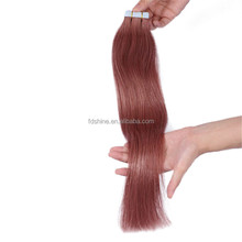 Wholesale cheap unprocessed virgin indian hair 33# tape human hair extension