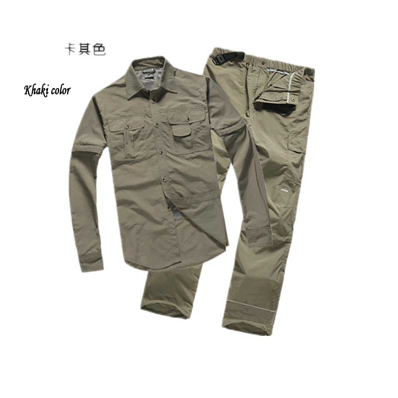 Get Quotations Men S Travel Shirts Outdoor Fast Drying Pants Long Sleeve Uv Protection Male Casual Detach