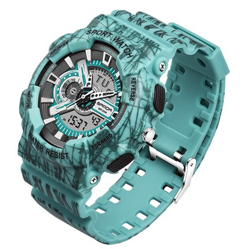 Alibaba.com / SANDA Camouflage G style Men sports Military waterproof Male wrist watch digital S-shock men's Analog quartz LED digital watch