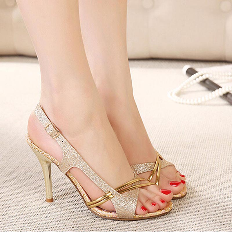 New Fashion Women Fish Mouth High-heeled <strong>Sandals</strong> Hollow Out Shoes