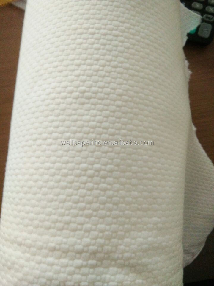 Airlaid Shop Towel Roll, Continuous Roll Ct. Various Sheets, White