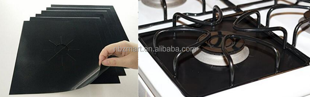Black Reusable Gas Stovetop Protectors