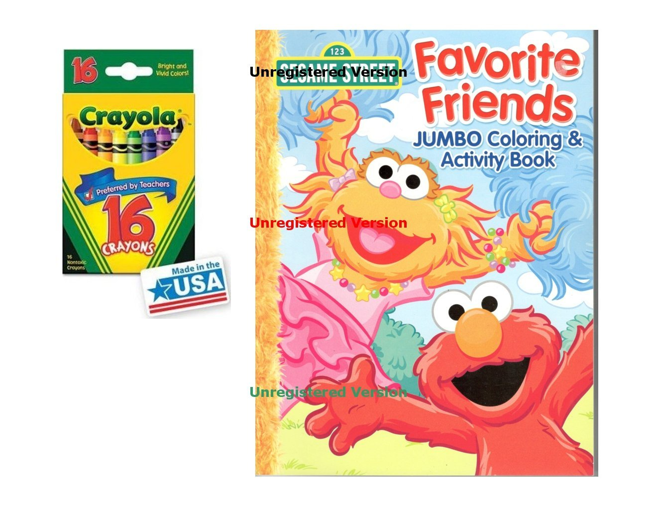 Buy Sesame Street Favorite Friends Coloring & Activities Book and 16 ...
