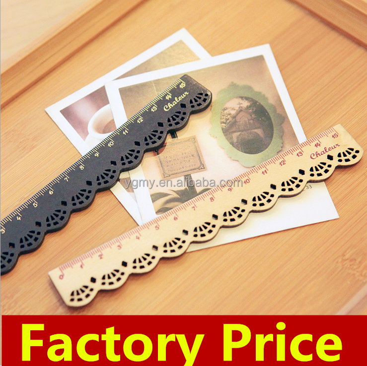 Wood straight rulers oppssed chiban drawing template lace Sewing Ruler