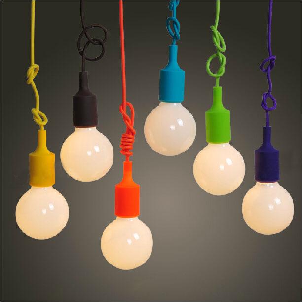 Colorful Pendant Lamp Modern Vintage Edison Bulb Bar