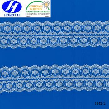 Wholesale China Changle factory Nylon spandex white fabric lace market in guangzhou
