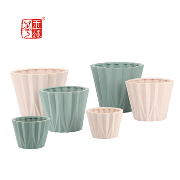 Cup shaped Origami Art designs Matt Full Color Small Cheap Price Ceramic Flower Pot