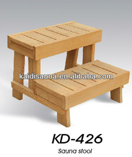 2014 high quality 2 steps wooden sauna stools