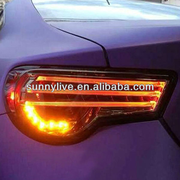2013-2014 year for Subaru BRZ LED Tail Light Strip Style Smoke Black Color V9