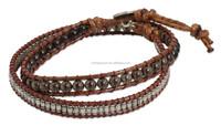 Smoky Quartz Hill Tribe Silver Handcrafted Bracelet