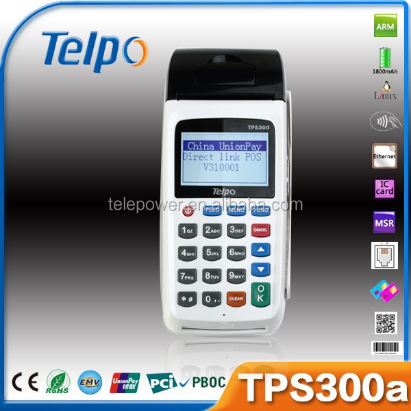 Telepower TPS300A Mobile POS Device handheld pos devices sticker book printing programmable pos keyboard