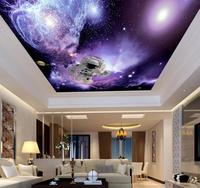 Purple background salon spa distributors home decor 3d wallpaper theme ceiling 3d wallpaper wall paper universe sky astronaut