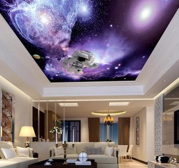 Purple Background Salon Spa Distributors Home Decor 3d Wallpaper Theme Ceiling 3d Wallpaper Wall Paper Universe Sky Astronaut Buy Ceiling 3d