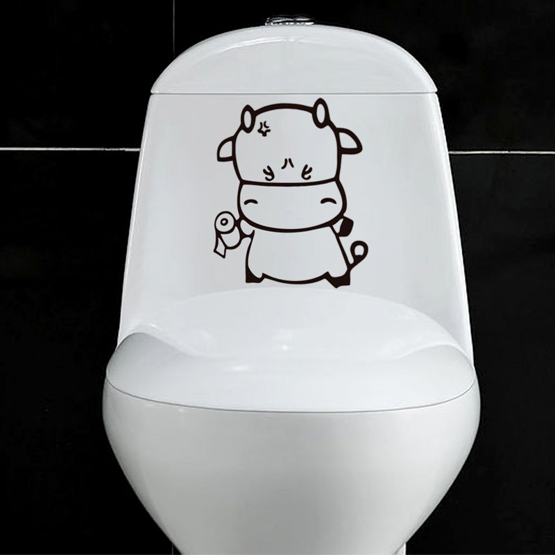 2015 Removable Decoration Home toilet Wall Stickers decals Waterproof Toilet wallpaper Mural Art Decor Funny Bathroom WC Sticker
