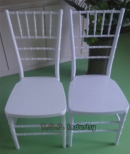 PP Stackable Unassembled White Chiavari Chair