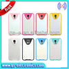 Soft clear tpu colourful pc frame case for Samsung galaxy S5/I9600 S4 mask cellphone case manufacturer 2014