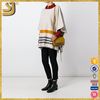 OEM factory price striped knit cape, cashmere sweaters women's clothing