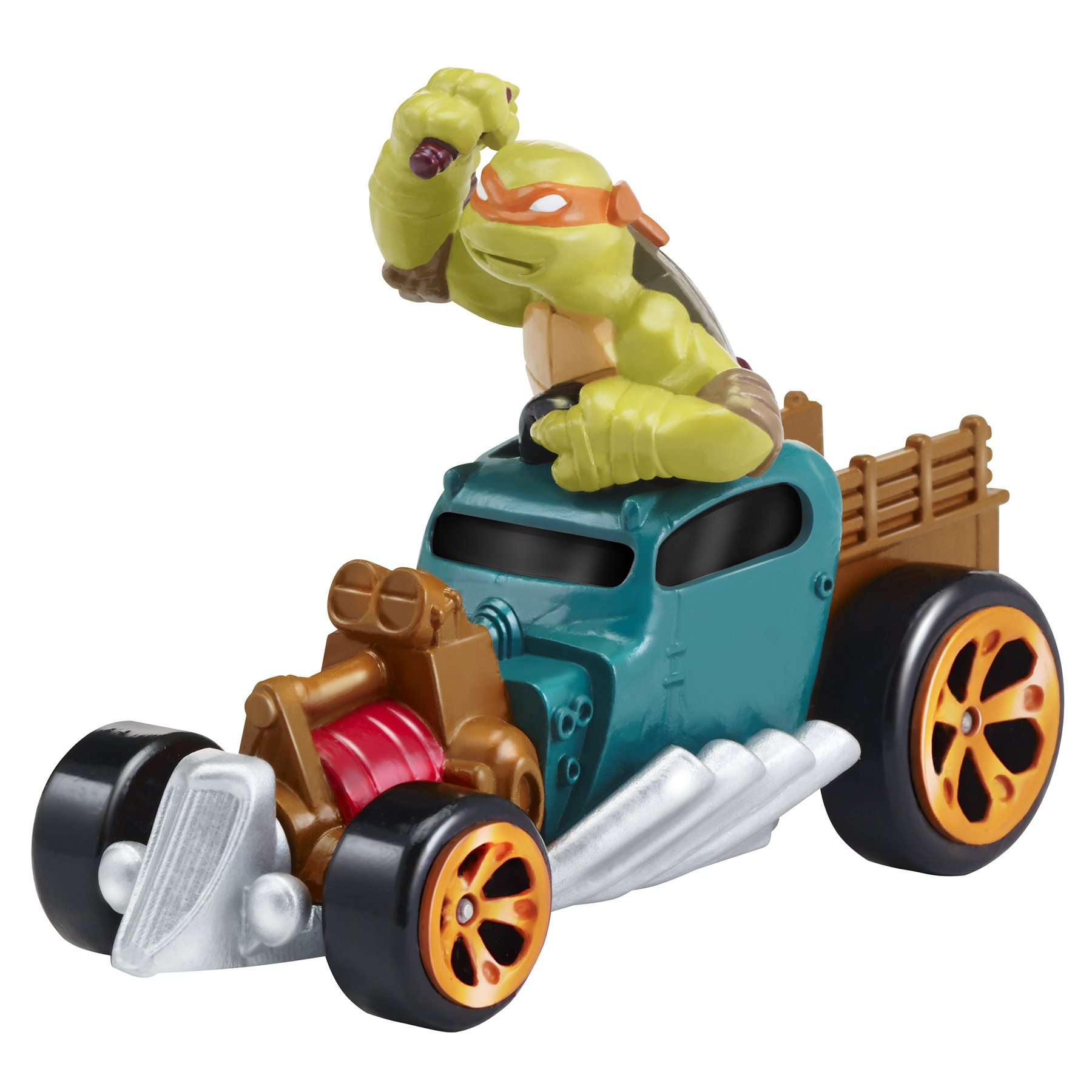 Teenage Mutant Ninja Turtles T-Machines Michelangelo in Hot Rod Diecast Vehicle