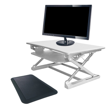 Ergonomic Anti Fatigue Floor Mat For Sit Stand Desk, Standing Desk, Height Adjustable  Desk