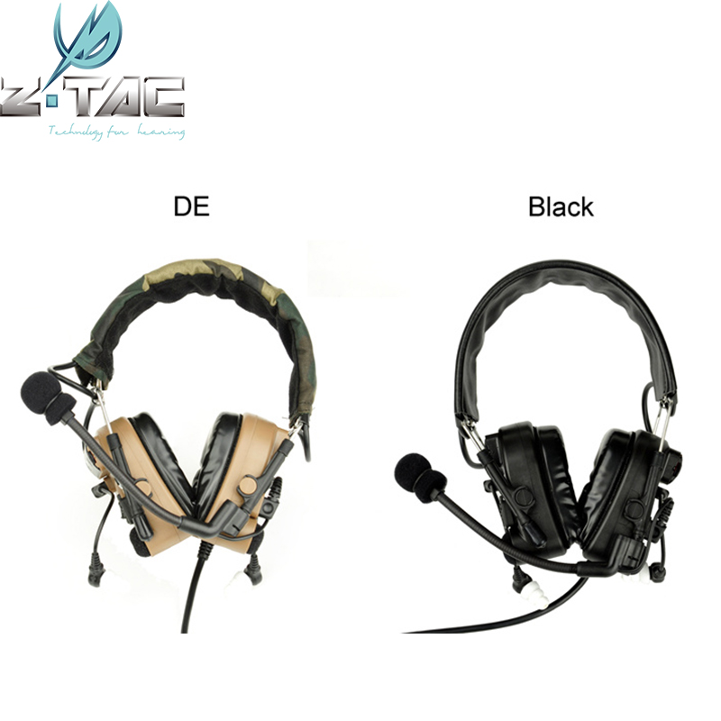 Combat zComtac IV In-Ear Tactical Noise Canceling Aviation Headset for Walkie Talkie