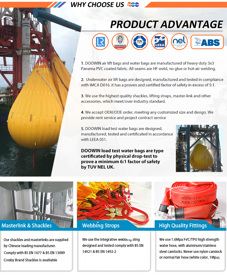 Crane Load Test Water Weight Bags / Filled Weight Bags For Sale