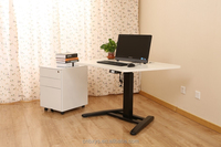 China manufacturer commercial office workstations and height adjustable laptop desk with single square column