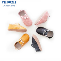 Choozii Wholesale Oxford Soft Sole Toddler Boys Girls Genuine Leather Prwalker Baby Shoes