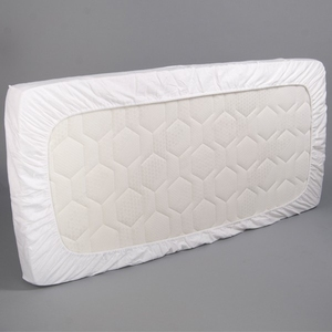 Hot Wholesale 100% Cotton Quilted Baby Crib Waterproof Cot Bed Mattress Protector