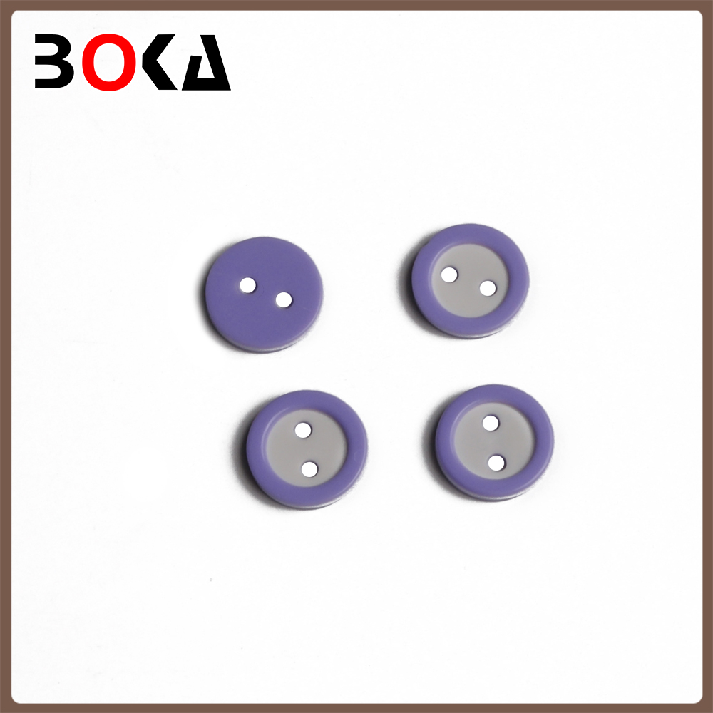 New printing violet round plastic eyelet buttons for garment