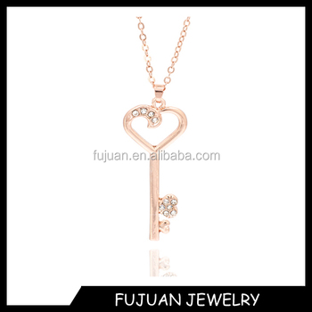New design of heart key necklace gold key pendant necklace buy new design of heart key necklace gold key pendant necklace aloadofball Image collections