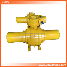 high efficiency Q367F-40 DN350 all welded gas ball valve with sleeves