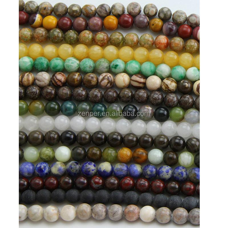 Naturstein lose Edelstein Perlen Reichtum Perlen Mala Perlen für die Schmuckherstellung