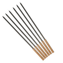 NIEUWE, 59 cm 49 cm 39 cm Lange, Grote Roestvrijstalen Braziliaanse Stijl <span class=keywords><strong>BBQ</strong></span> Barbecue Spiesjes, shish Kebab Kabob Spiesjes, Wide Blade, <span class=keywords><strong>set</strong></span>