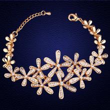 2016 Hot Sale European Bracelet Fashion Jewelry Flower Bracelet Bangle Made With font b Swarovski b