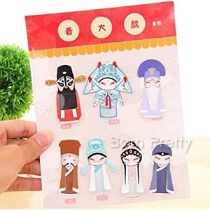 7pc/set Chinese Classical Peking Opera Mini Bookmark Hot Selling (Random Pattern