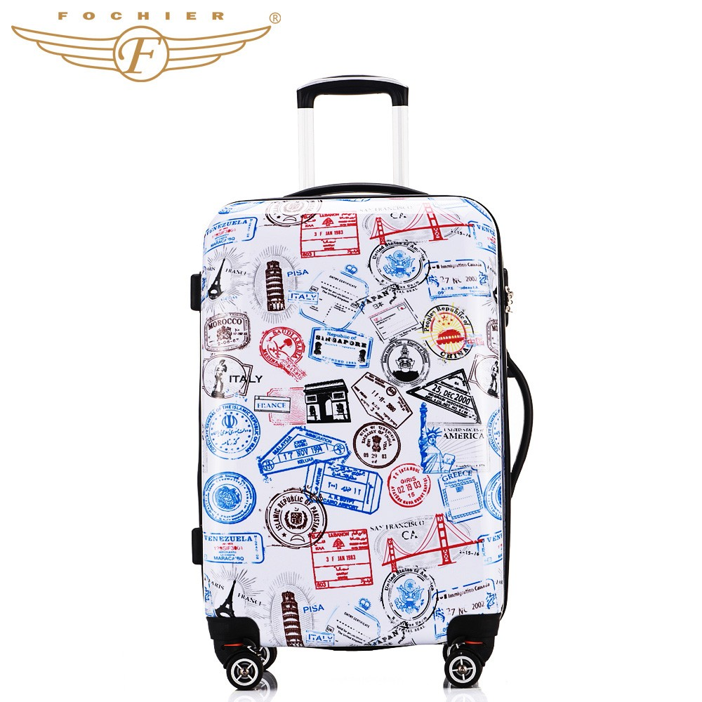 Wholesale Women Men Luggage Colorful 20 24 28 Inches Hard