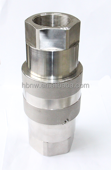 stainless steel flat face valve hydraulic quick release couplings