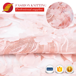sequin embroidery textile elegant 3d rose bride lace fabric