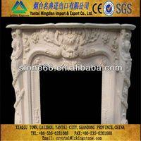 Beautiful cristina yellow marble fireplaces