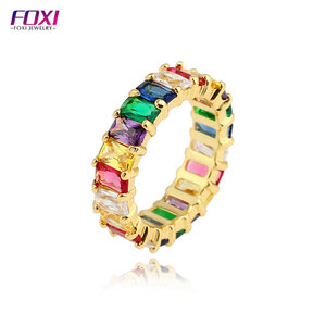 Guangxi foxi jewelry top sale gold plated rainbow jewelry ring