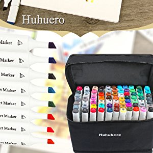 Dual tip marker 72Colors Double Head Artist Soluble Colors Sketch Copic Marker Brush Pen Set For School Drawing